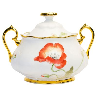 Royal Albert 100 Years Poppy 1970 3 Piece Tea Set