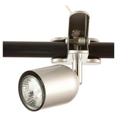 Tesco Lighting Clip-On Desk Lamp Silver