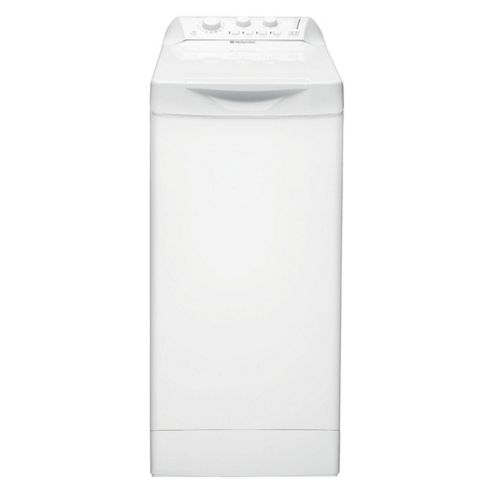 Hotpoint WTL500P Top Loading Washing Machine, 5kg Wash Load, 1000 RPM Spin, A Energy Rating. White