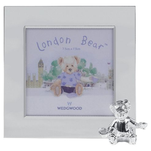 Wedwood Silver Collection Christening Bear Photo Frame