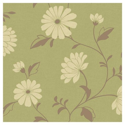 Arthouse Chelsea motif green wallpaper