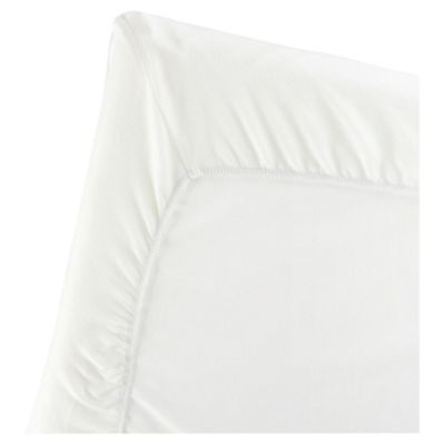 BABYBJORN Fitted Sheet for Travel Cot Light, White, Organic