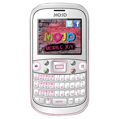 Tesco Mobile Mojo Chat with free memory card exclusive to tesco White & Pink