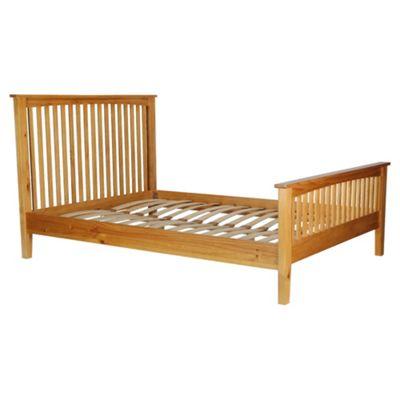 Hancock Double Bed Frame, Oak Stain