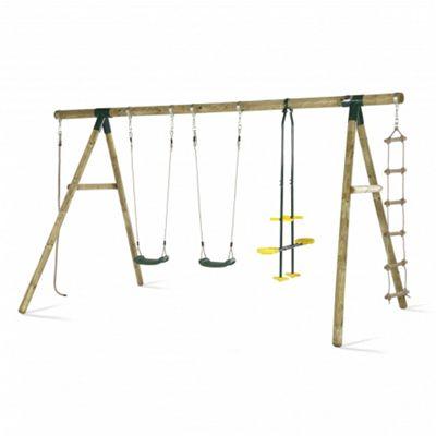 Plum Orang-Utan Wooden Garden Swing Set