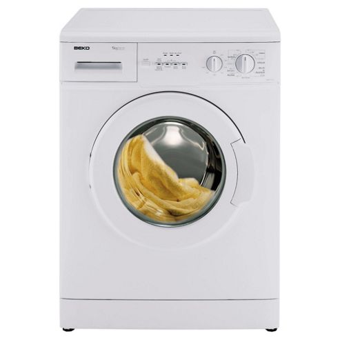 Beko WM5101W Washing Machine, 5kg Wash Load, 1000 RPM Spin, A+ Energy Rating White