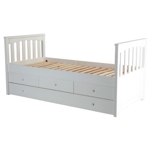 Kids Captains Bed Frame, White