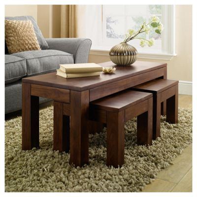 Tamarai Nest Of 3 Coffee Tables, Sheesham