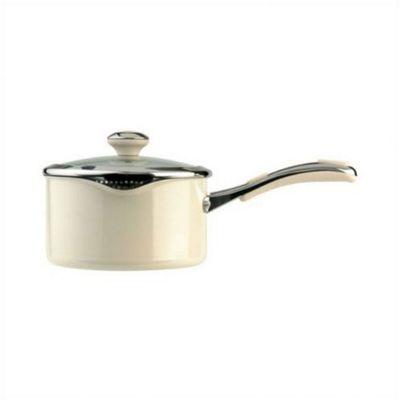 Meyer Select 20cm Non-stick Saucepan, Almond