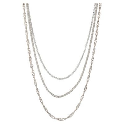 Sterling Silver Set of 3 Chains, 46cm