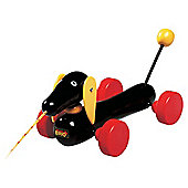 Brio Toddler Classic Dachshund Dog Pull Along, wooden toy