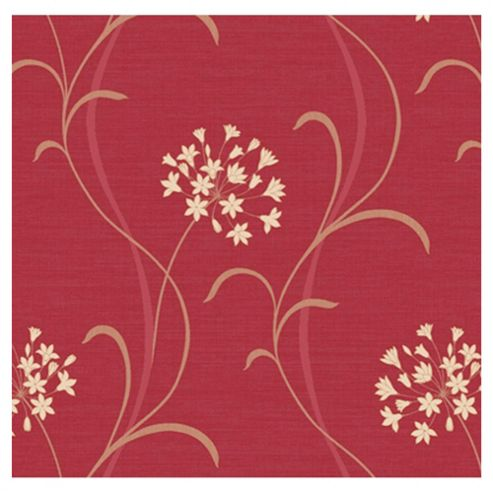 Arthouse Mia motif red wallpaper