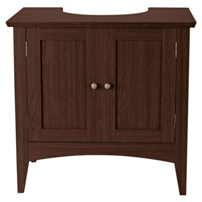 buy portico dark wood under sink cabinet from our bathroom standing cabinets storage range tesco. Black Bedroom Furniture Sets. Home Design Ideas