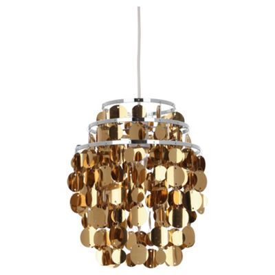 Tesco Lighting Spangle Pendant Shade, Gold