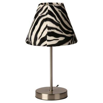 Tesco Lighting Zebra Table Lamp