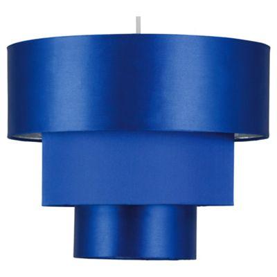 Tesco Lighting Bianca Satin 3 Tier Shade In Blue