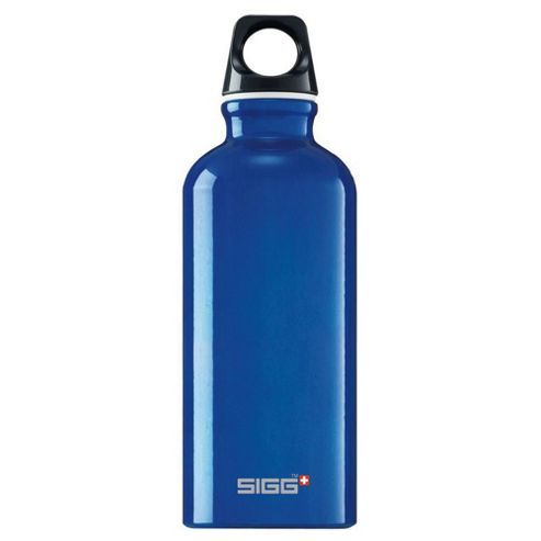 SIGG Traveller Classic Aluminium Drinking Water Bottle, 0.4L Blue