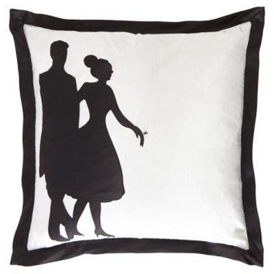F&F Home Polka Cushion - Black/White