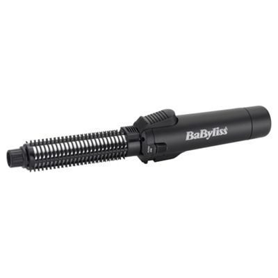 BaByliss 2583BU Pro Cordless Gas Ceramic Curling Tong and Hair Brush, 19mm Barrel - Silver