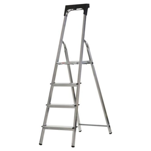 Abru 4 Tread professional stepladder with tool tray