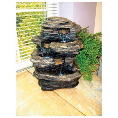 Mini slate falls fountain