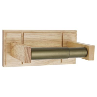 Croydex Toilet Roll Holder Light Wood