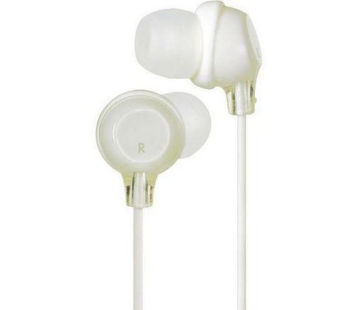 JVC Clear Colour Stereo Headphones White HAFX22W