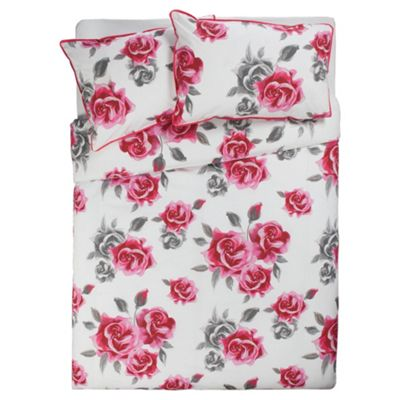 F&F Home Audrey Roses Duvet Double (Pink)