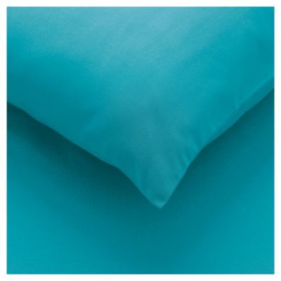 Tesco twin pack pillowcase - Bright Teal