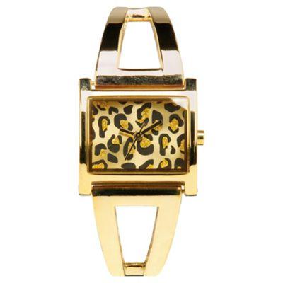 Ladies Leopard Dial Watch