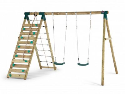 Plum Uakari Wooden Garden Swing Set