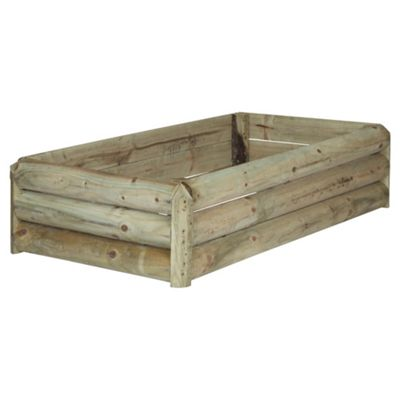 Low level wooden planter