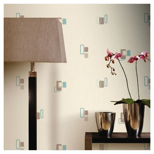 Arthouse Adelphi block teal wallpaper