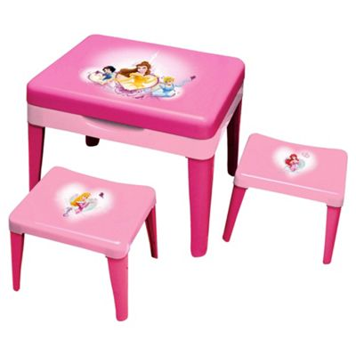 Disney Princess Sand & Water Table with 2 Stools