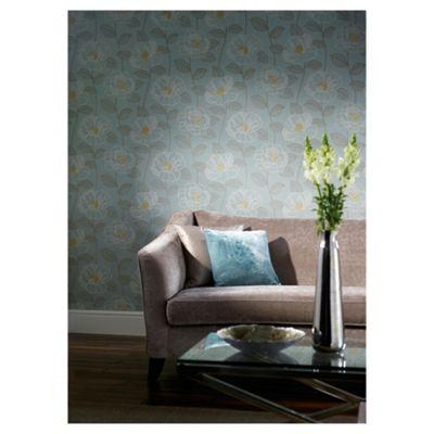 Arthouse Mystique floral teal wallpaper