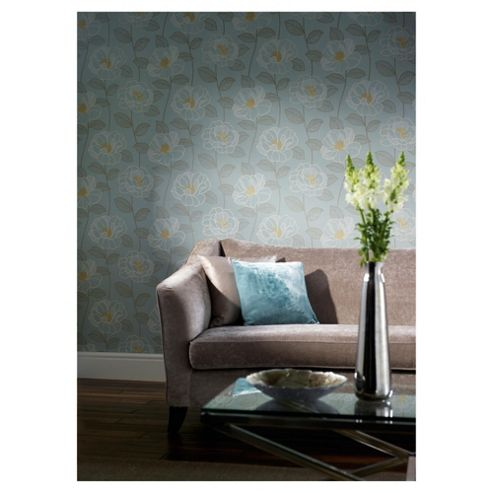 Arthouse Mystique floral teal wallpaper