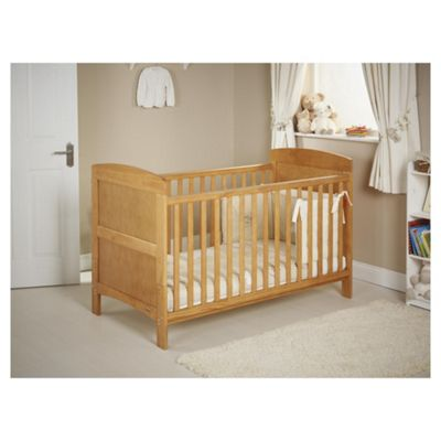 Obaby Grace Cot Bed Bundle, Country Pine & Cream