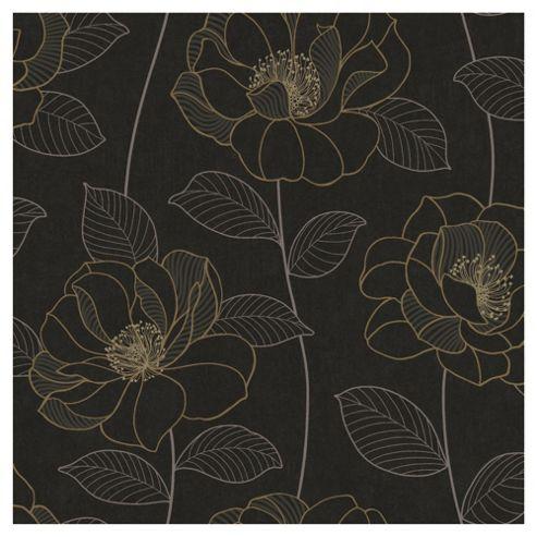 Arthouse Mystique floral black wallpaper