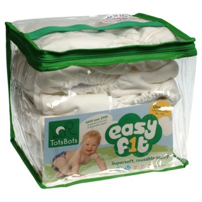 Tots Bots 5 Pack Easyfit White