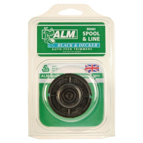BLACK+DECKER ALM Filled Spool For Twin Line Grass Trimmers, 2 pack
