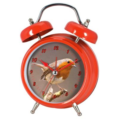 Zeon Tech Twin Bird Clock Robin