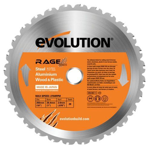 Evolution RAGE 255mm Multipurpose TCT Blade (Orange)