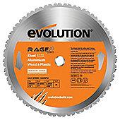 Evolution RAGE 355mm Multipurpose TCT Blade (Orange)
