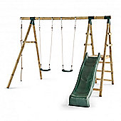 Plum Giant Baboon Wooden Garden Swing Set with Slide