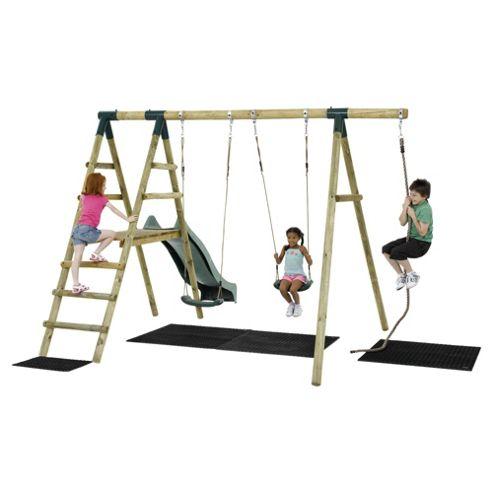 Plum Giant Baboon Wooden Garden Swing Set with Slide