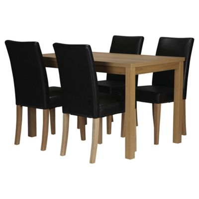 Banbury 4 Seat Dining Table Set, Oak effect