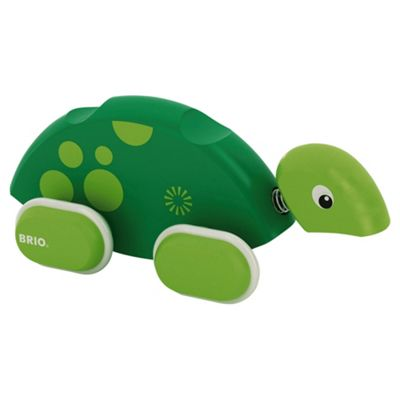 Brio Toddler Classic Push Along Turtle, wooden toy