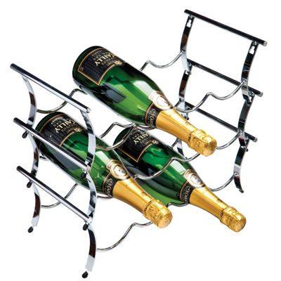 George Wilkinson 12 Bottle Winestak - Chrome