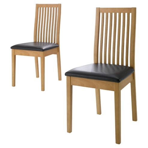 Reena Slat Back Pair Of Chairs