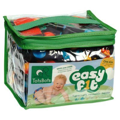 TotsBots 3 Pack Easyfit Cosmic Print Reusable Nappies